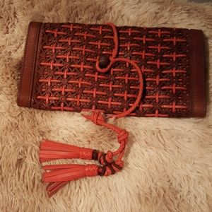 Genuine lamb leather Lucky Brand clutch